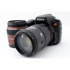 ソニー SONY α200 DSLR-A200 ダブルズームセット 美品 レンズフード、ストラップ付き