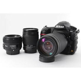 ニコン Nikon D850 トリプルレンズセット 美品 4575万画素 高速連続撮影 スマホへ転送 新品SDカード付き