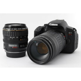 キヤノン Canon EOS Kiss X6i 標準&望遠ダブルズームセット 美品 ストラップ、新品SDカード付き