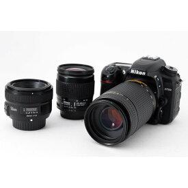 【10/19~25 クーポンで最大4000円OFF!!】ニコン Nikon D7500 単焦点&標準&望遠トリプルレンズセット 美品 SDカード付き