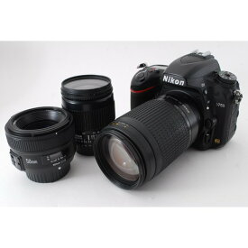ニコン Nikon D750 単焦点&標準&望遠トリプルレンズセット 美品 新品SDカード付き!