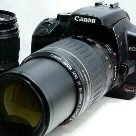 【5/9~16 クーポンで最大4000円OFF!!】キヤノン Canon EOS Digital X ダブルズームセット 一眼レフこれが決定版