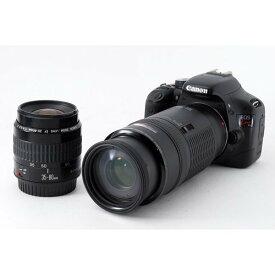 キヤノン Canon EOS Kiss X4 標準&超望遠ダブルレンズセット ブラック 美品 ストラップ付き
