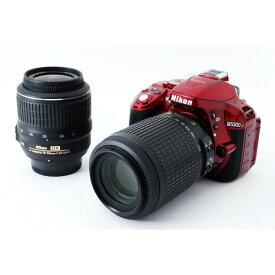 ニコン Nikon D5300 ダブルズームセット レッド 美品 新品SDカード、ストラップ付き!