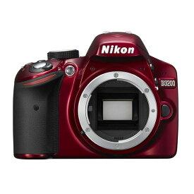 ニコン Nikon D3200 ボディー レッド 新品SDカード付き