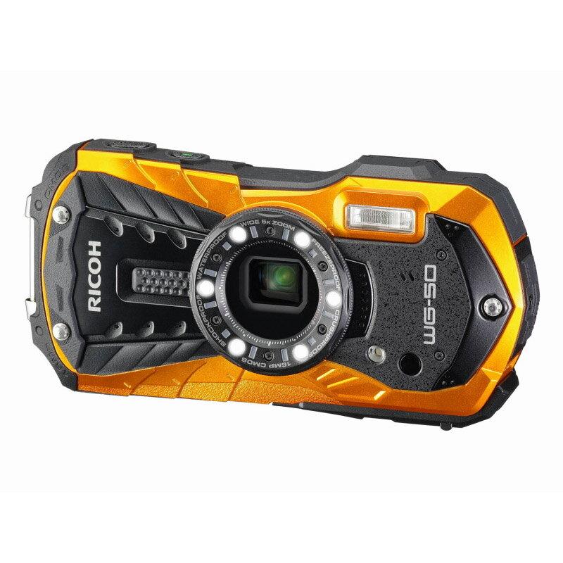 リコー RICOH コンパクトデジタルカメラ WG-50 オレンジ