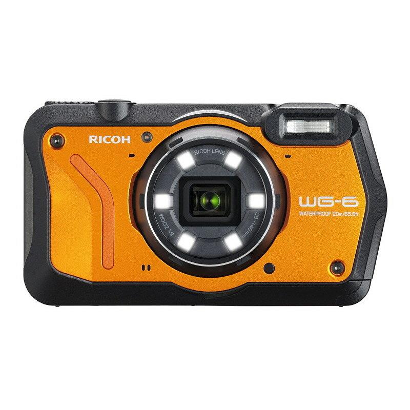 【5月18日0:00-5月21日23:59最大1,000円OFFクーポン発行中!】リコー RICOH コンパクトデジタルカメラ WG-6 オレンジ