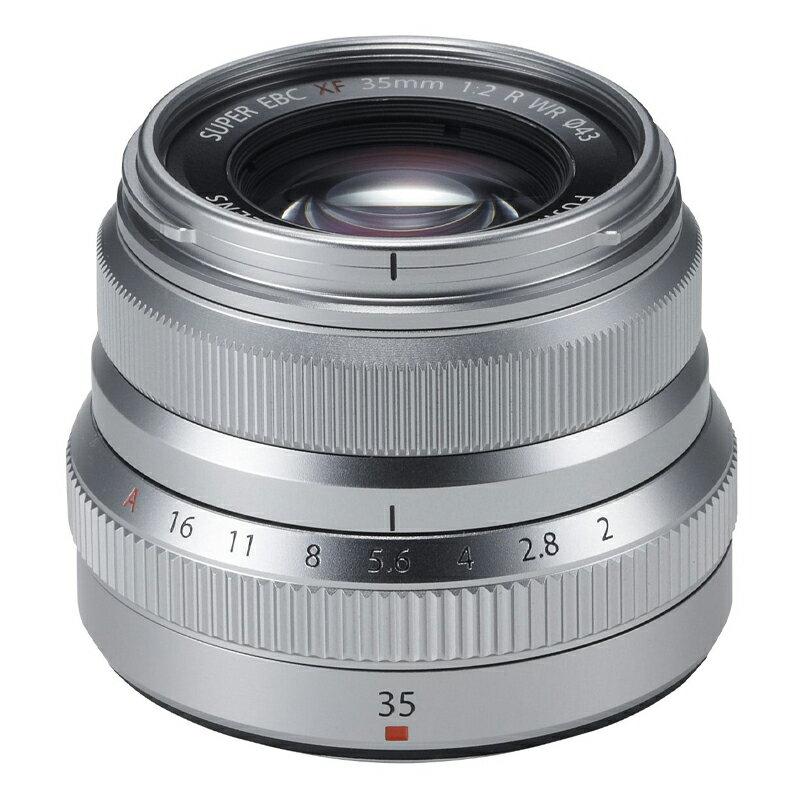 FUJIFILM フジフイルム 標準単焦点レンズ XF 35mm F2 R WR シルバー