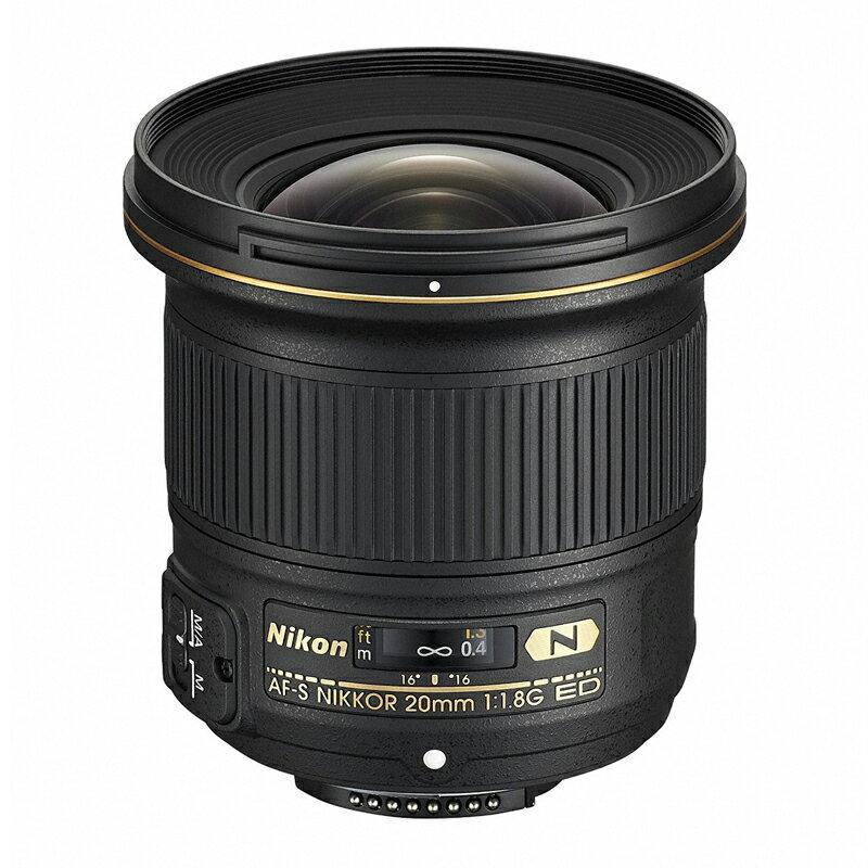Nikon ニコン 大口径超広角単焦点レンズ AF-S NIKKOR 20mm f/1.8G ED 【キャッシュバックキャンペーン¥5,000対象】
