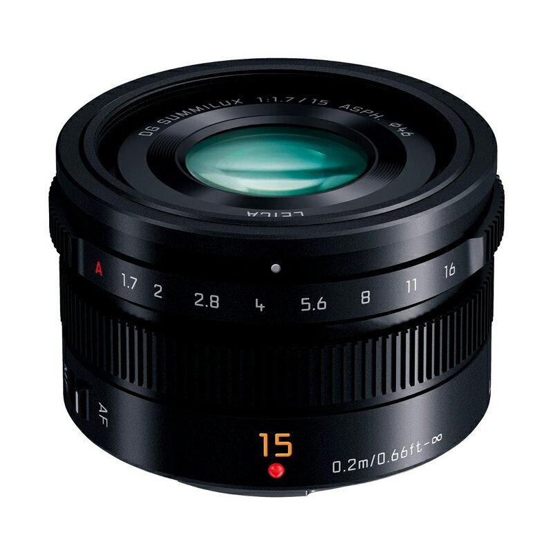 Panasonic パナソニック LEICA DG SUMMILUX 15mm / F1.7 ASPH. ブラック (H-X015-K) ズミルックス 広角単焦点レンズ マイクロフォーサーズ用
