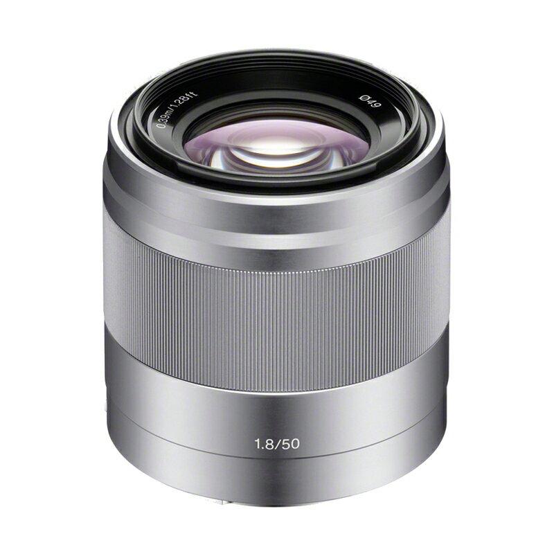 SONY ソニー 中望遠単焦点レンズ E 50mm F1.8 OSS シルバー SEL50F18-S ミラーレス一眼カメラ用