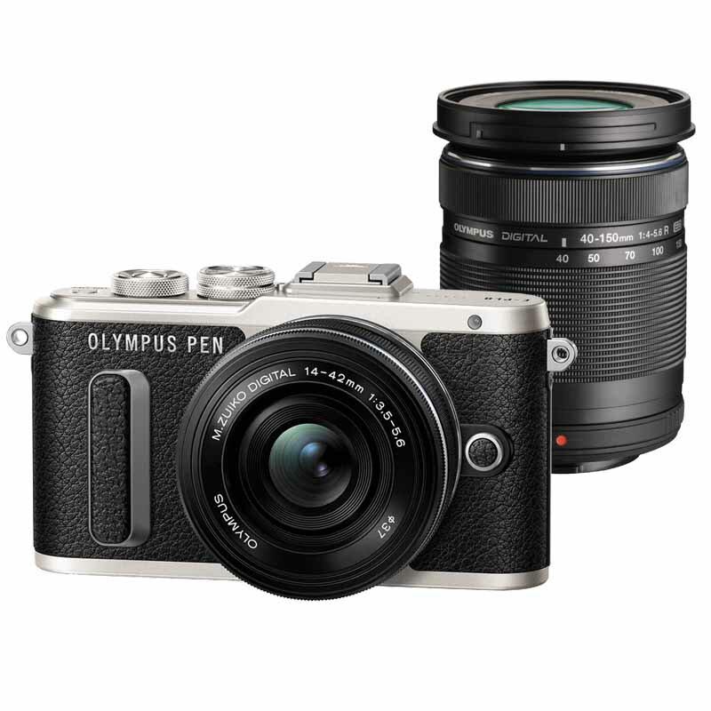OLYMPUS オリンパス ミラーレス一眼カメラ PEN E-PL8 EZ ダブルズームキット ブラック