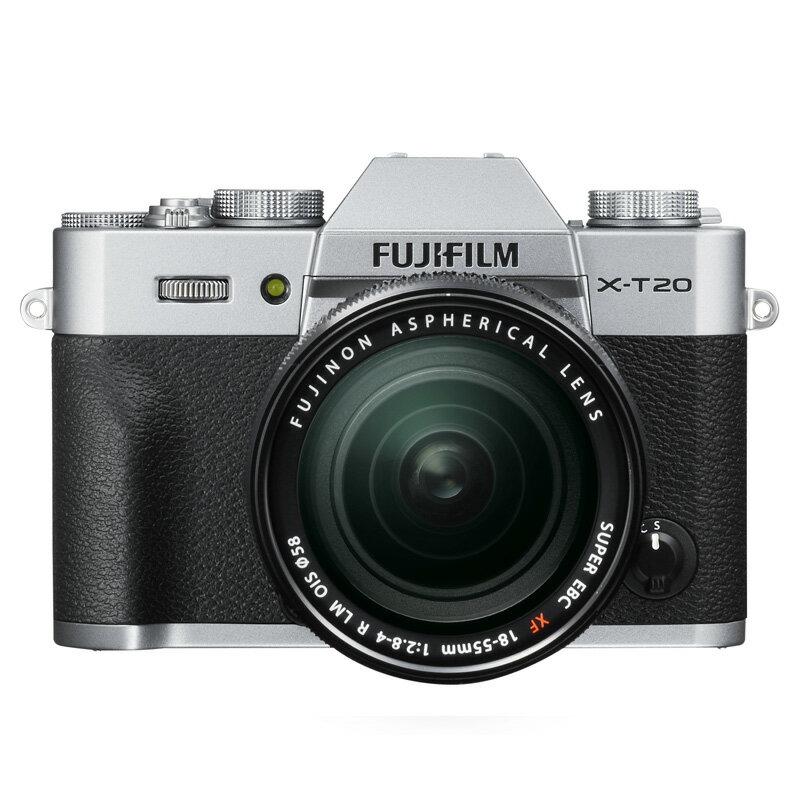 FUJIFILM フジフイルム ミラーレス一眼カメラ X-T20 シルバー XF 18-55mm レンズキット