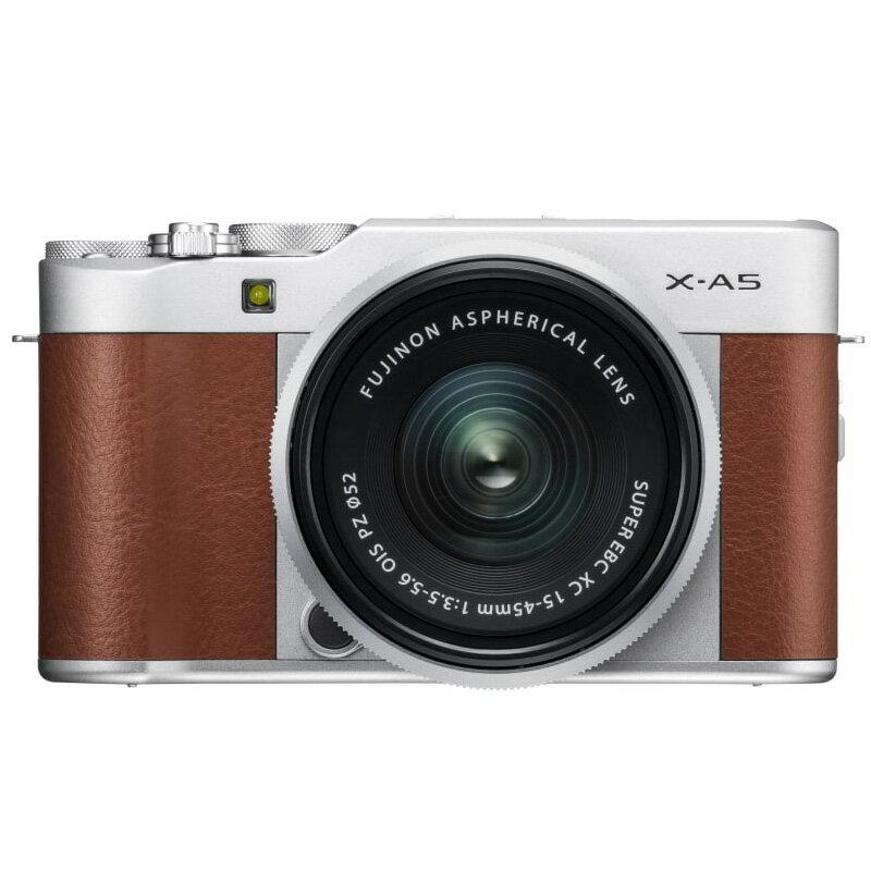 FUJIFILM フジフイルム ミラーレス一眼カメラ X-A5 レンズキット ブラウン