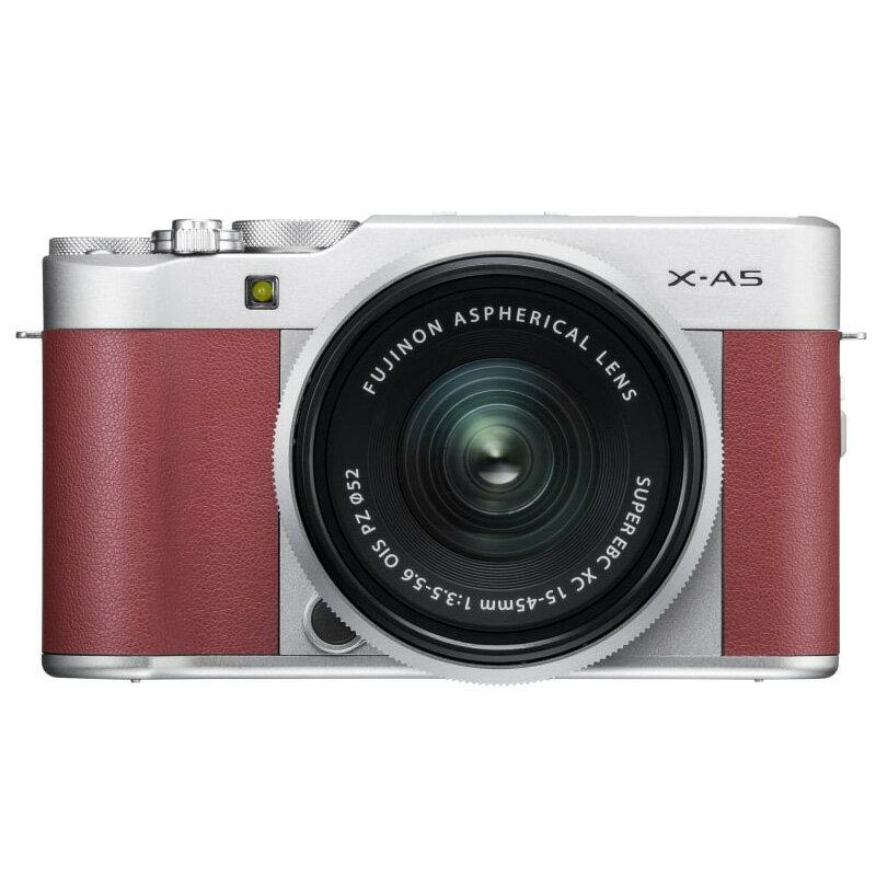 FUJIFILM フジフイルム ミラーレス一眼カメラ X-A5 レンズキット ピンク