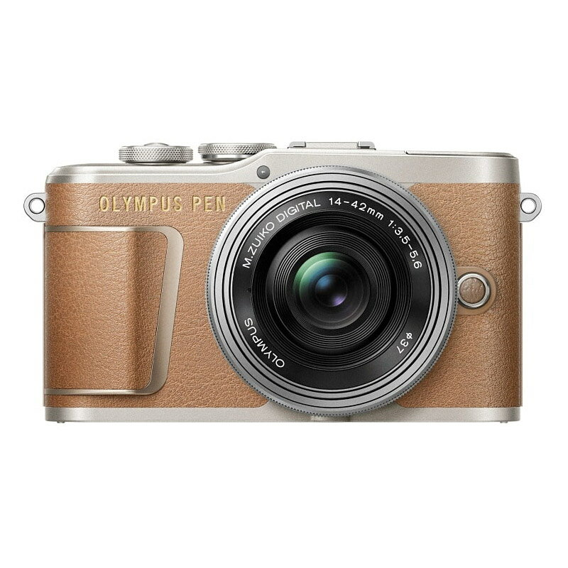 OLYMPUS オリンパス ミラーレス一眼カメラ PEN E-PL9 14-42mm EZ レンズキット ブラウン