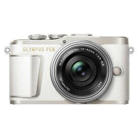 【7月21日20:00-7月26日1:59エントリー&楽天カード決済でポイント最大7倍!】OLYMPUS オリンパス ミラーレス一眼カメラ PEN E-PL9 14-42mm EZ レンズキット ホワイト
