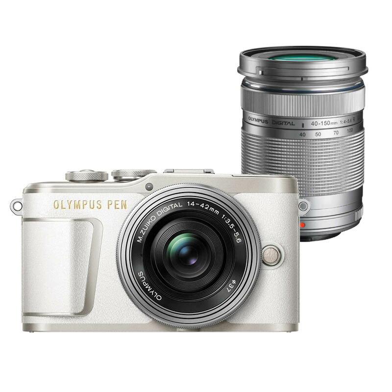 OLYMPUS オリンパス ミラーレス一眼カメラ PEN E-PL9 EZ ダブルズームキット ホワイト