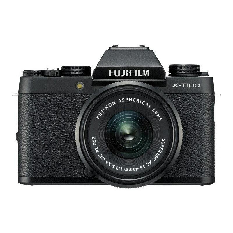 FUJIFILM フジフイルム ミラーレス一眼カメラ X-T100 レンズキット ブラック