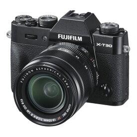 【6月4日20:00-6月11日1:59 最大6,000円OFFクーポン発行中!】FUJIFILM フジフイルム ミラーレス一眼カメラ X-T30 XF18-55mm レンズキット ブラック