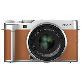 FUJIFILM フジフイルム ミラーレス一眼カメラ X-A7 レンズキット キャメル