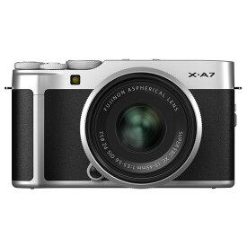 【11月25日10:00-11月27日23:59 300円OFFクーポン発行中!】FUJIFILM フジフイルム ミラーレス一眼カメラ X-A7 レンズキット シルバー