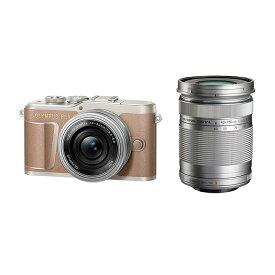 OLYMPUS オリンパス ミラーレス一眼カメラ PEN E-PL10 EZ ダブルズームキット ブラウン