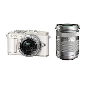OLYMPUS オリンパス ミラーレス一眼カメラ PEN E-PL10 EZ ダブルズームキット ホワイト