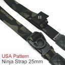 【NEW】 新柄ブラックカモ追加! USA製柄テープ4種 / diagnl(ダイアグナル) Ninja Camera Strap 25mm幅 【5,500円(税込)以上のご購入で送料無料】カメラストラップ ミラーレス コンデジ ショルダーストラップ 斜めがけ カモフラ 長さ調節