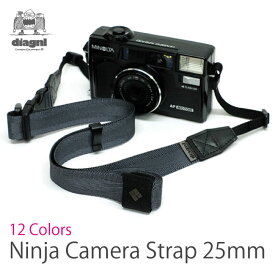 「異次元の速写性」ニンジャカメラストラップdiagnl(ダイアグナル) Ninja Camera Strap 25mm幅 レギュラータイプ【5,400円(税込)以上のご購入で送料無料】カメラストラップ ミラーレス コンデジ 斜めがけ 長さ調節 日本製