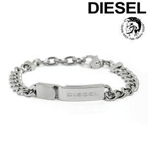 DEISEL ディーゼル メンズ レディース ブレスレット ロゴプレート アクセサリー ブランド ロゴ プレート ステンレス シルバー dx0966040 ギフト