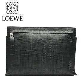 LOEWE ロエベ T POUCH LINEN Tポーチ バッグ クラッチバッグ レディース メンズ 鞄 牛革 カーフレザー ブラック 黒 10188W05 1100