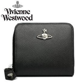 ヴィヴィアンウエストウッド 財布 二つ折り財布 レディース メンズ 流行 ブラック レザー コンパクト 51080020-40187