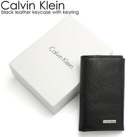 Calvin Klein カルバンクライン メンズ キーケース ブランド ブラック メンズ シンプル キーリング 79216