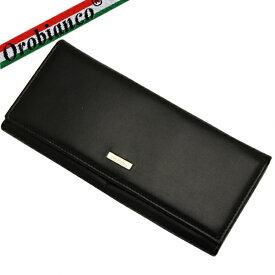 【楽天スーパーSALE】【OROBIANCO】 オロビアンコ 長財布 メンズ レザー カーフ 牛革 本革 ブラック 財布 ウォレット ブランド FIDATO-L