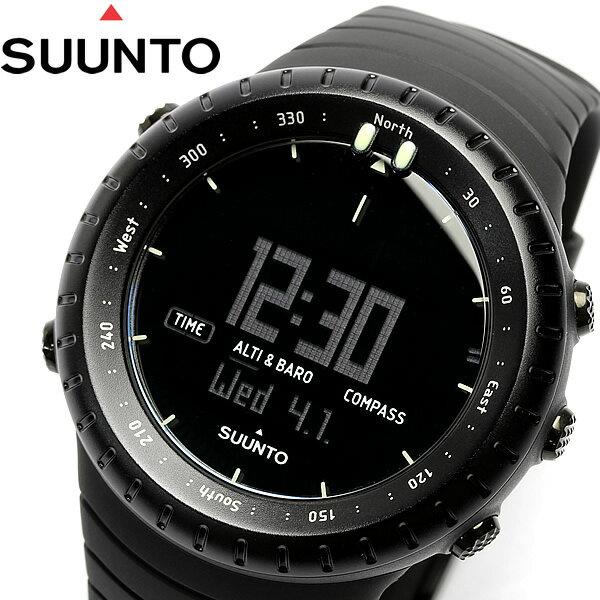 【感謝SALE】【送料無料】スント SUUNTO コア Core 腕時計 オールブラック All BLACK スント SS014279010 デジタル アウトドア ウォッチ メンズ Men's 高度計 気圧計 気温計 コンパス スント 腕時計