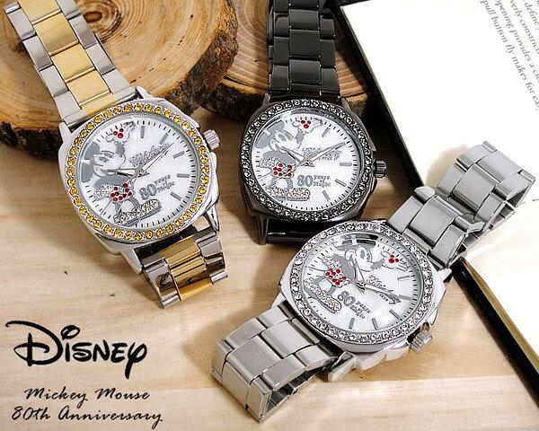 ディズニー DISNEY ミッキー MICKEY 腕時計 生誕80周年記念 限定 スワロフスキー
