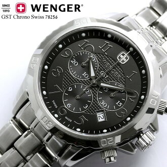 WENGER (Wenger) mens watch Wenger wenger GST chronograph Chrono 78256 watch うでどけい MEN's watch KY