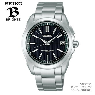 Seiko (SEIKO) Watch mens brightz solar wave watch Seiko SEIKO SAGZ051 10 pressure waterproof radio controlled solar watches watch men's udedokei MEN's watch