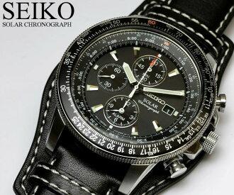 Seiko SEIKO watch men's chronograph solar watch chronograph 100 m water resistant SSC009P2 Seiko SEIKO watches men's watches うでどけい MEN's