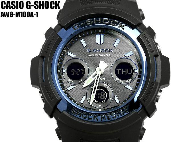 【G-SHOCK/腕時計】Gショック 電波ソーラー ソーラー電波時計 G-SHOCK ジーショック CASIO カシオ 腕時計 AWG-M100A-1A メンズ ウォッチ うでどけい Men's