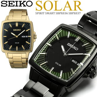 Move SEIKO spirit men watch solar watch SEIKO SPIRIT solar watch arm, and is; MEN'S watch SBPX037