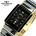 TECHNOS テクノス メンズ セラミック サファイアガラス ブラック 腕時計 TAM530GB