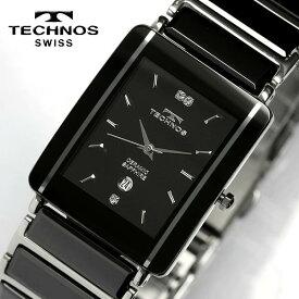 最大400円OFFクーポン TECHNOS テクノス メンズ セラミック サファイアガラス 腕時計 TAM530TB