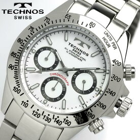 TECHNOS テクノス メンズ クロノグラフ 腕時計 TGM615SW