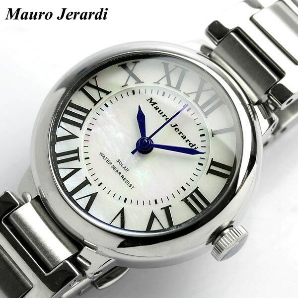 【腕時計】【レディース】マウロジェラルディ シェル文字盤 ソーラー 腕時計 ウォッチ 腕時計 レディース LADY'S うでどけい