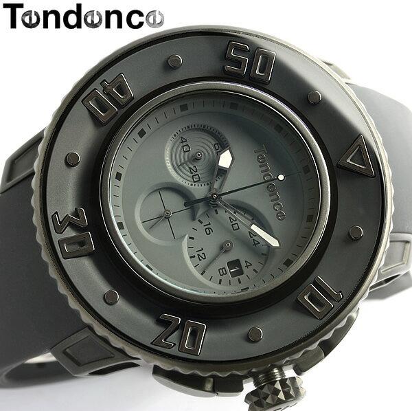 【送料無料】【テンデンス】【Tendence】 腕時計 メンズ クロノグラフ G-52シリーズ 02106002 うでどけい MEN'S ウォッチ グレー ラバー 20気圧防水 男性用