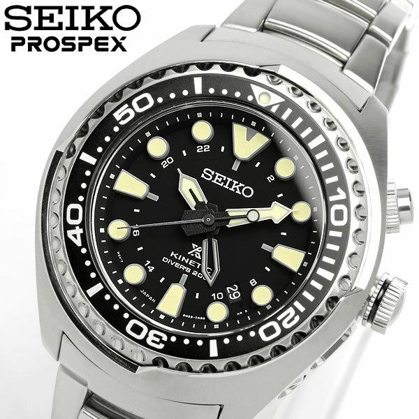 【送料無料】【SEIKO】【セイコー】 PROSPEX プロスペックス キネティック 自動巻き 腕時計 ダイバーズウォッチ Divers 200M防水 メンズ オートマティック カレンダー SUN019P1 Men's