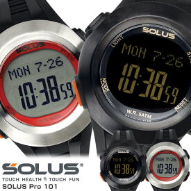 【SOLUS】 ソーラス 心拍計 腕時計 メンズ 歩数計 スポーツウォッチ ハートレート ストップウォッチ 01-101 Men's うでどけい