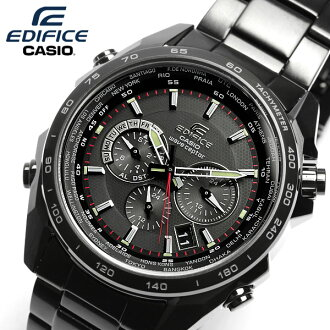 EDIFICE wave solar watch men's chronograph black x black metal edifice EQW-M600DC-1A MEN's udedokei watch